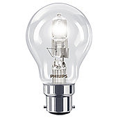Philips EcoClassic Dimmable Halogen Traditional Light Bulb (42W B22 A55)