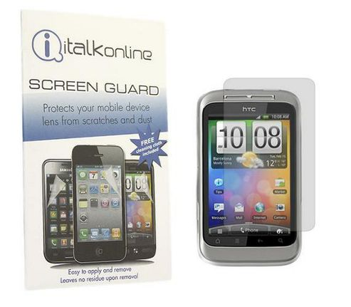 iTALKonline S-Protect LCD Screen Protector and Micro Fibre Cleaning Cloth - For HTC WildFire S