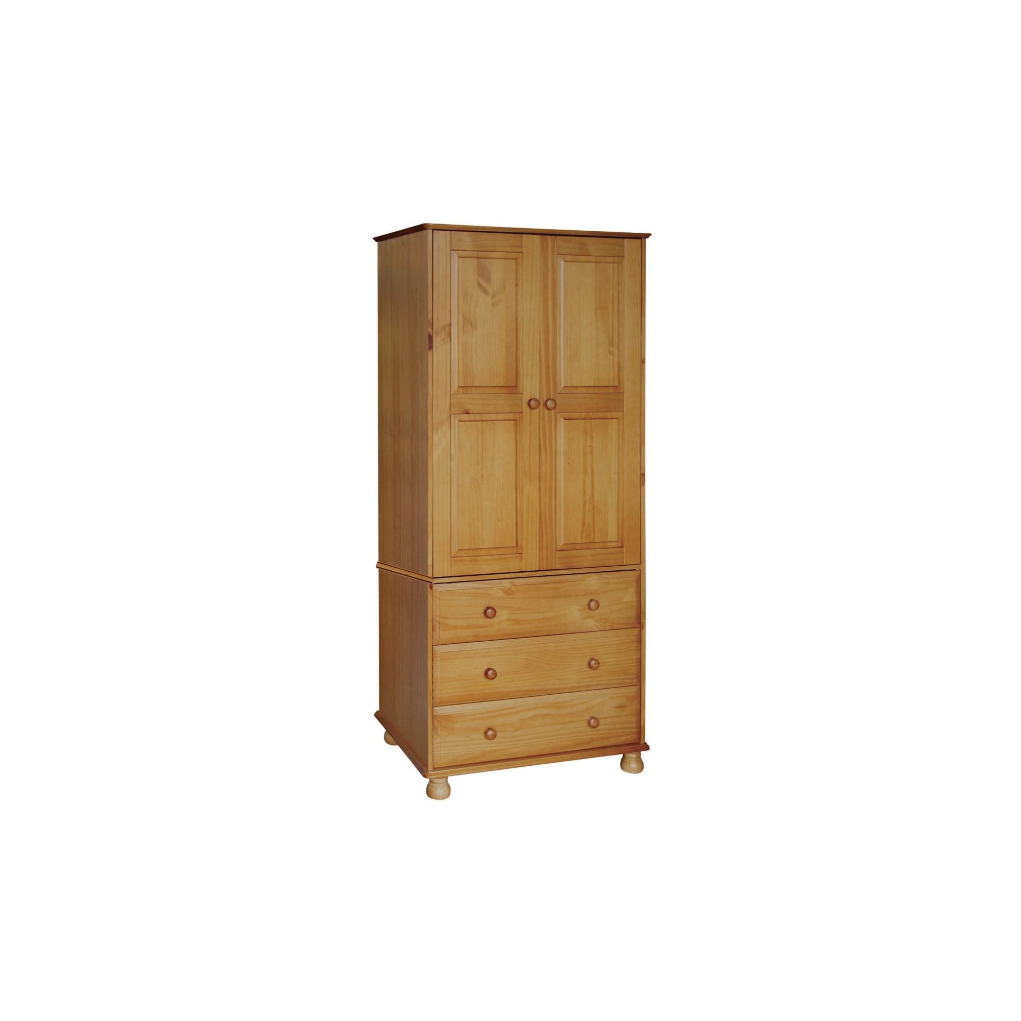 Home Essence Sheraton 3 Drawer Wardrobe in Solid Pine at Tesco Direct