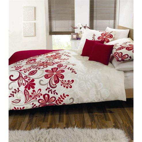 Dreams n Drapes Rosso Red Single Quilt Set