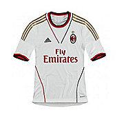2013-14 AC Milan Adidas Away Football Shirt - White