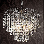Loxton Lighting 4 Light Water Fountain Chandelier - Chrome