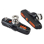 Acor Cartridge Caliper Brake Pads: Black/Orange.