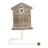 Beach Hut - Wall Mounted Towel Rack - Brown