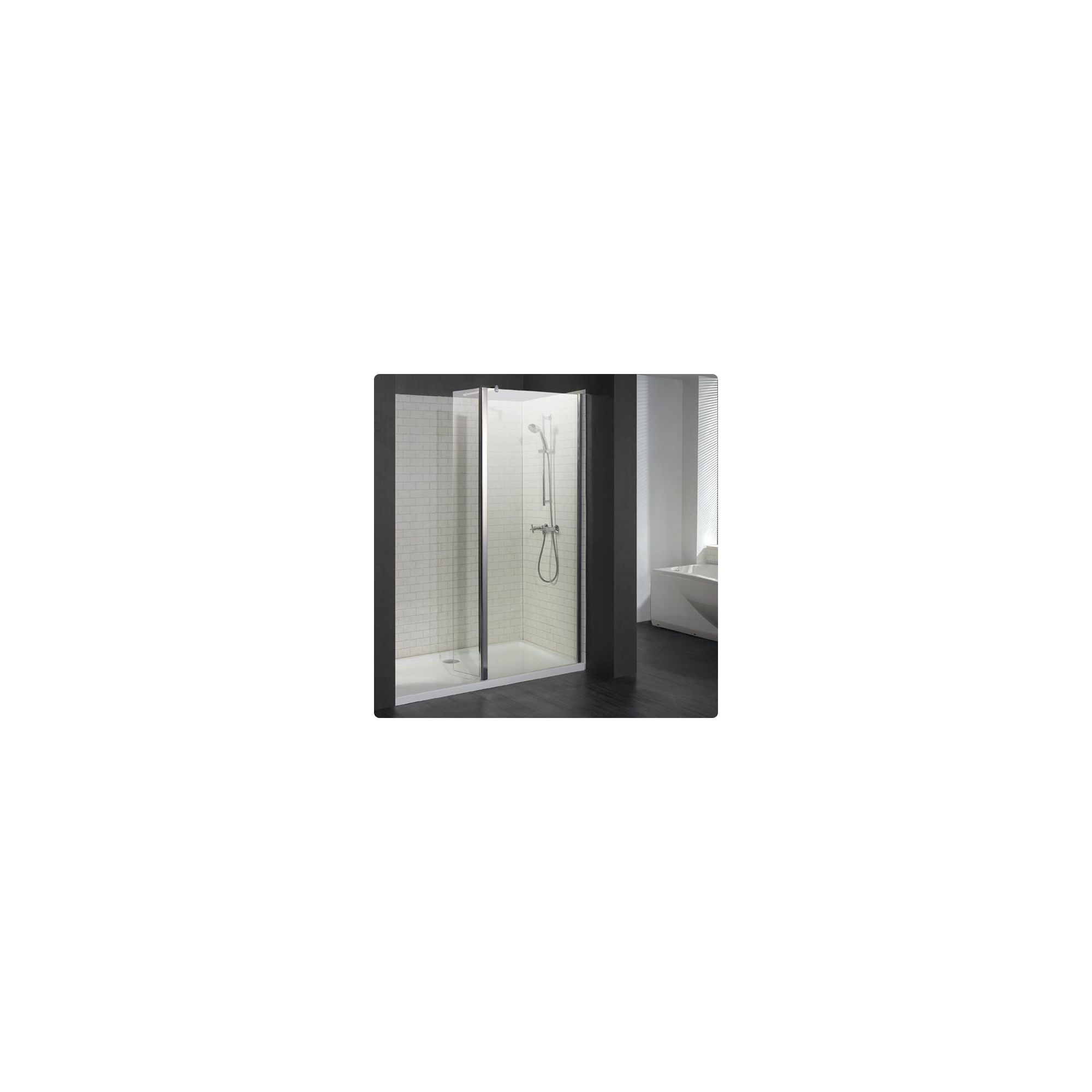 Duchy Choice Silver Walk-In Shower Enclosure 1500mm x 800mm (Complete with Tray), 6mm Glass at Tesco Direct