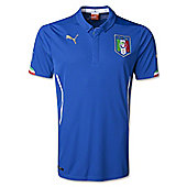 2014-15 Italy Home World Cup Football Shirt (Kids) - Blue