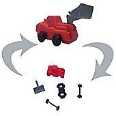 TY Iwako Puzzle Eraserz - Bulldozer - Red
