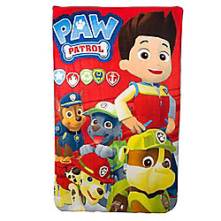 Paw Patrol 'Squad' Boys Panel Fleece Blanket Throw