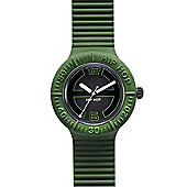 Hip Hop Unisex Large Green Strap Watch HWU0118