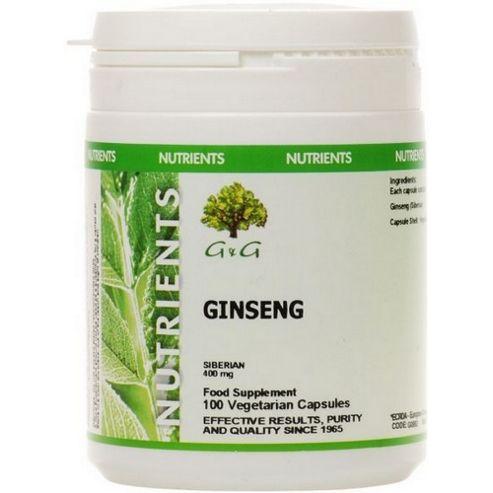 G & G Siberian Ginseng 400mg 100 Capsules