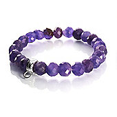 Chrysalis Faceted Amethyst Bracelet with Silver Charm Hoop