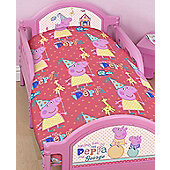 Peppa Pig Rotary Style Toddler Bedding - Funfair