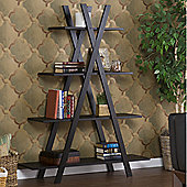 "Southern Enterprises Havenwood ""X"" Etagere Bookshelf"
