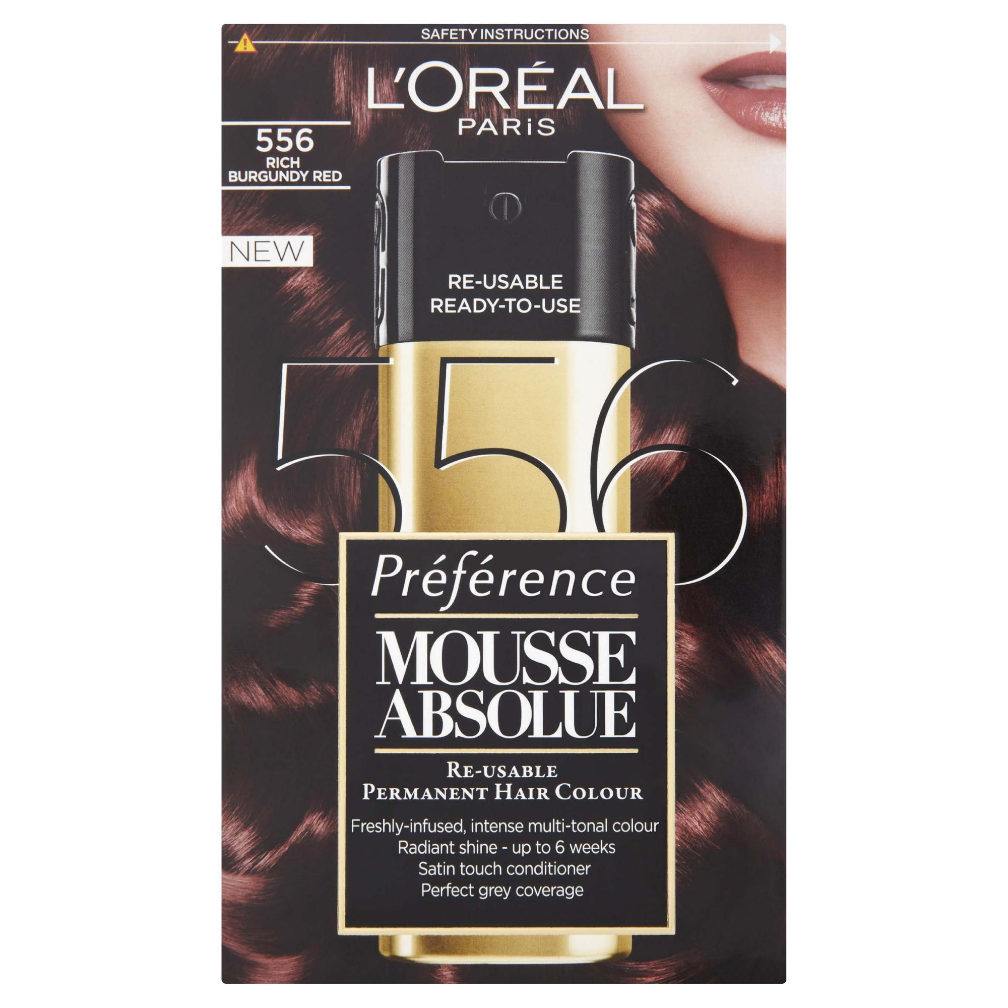 L'Oreal  Mousse Absolue Rich Burgundy Red 556