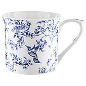 Tesco White and Navy Toile Palace Mug Single