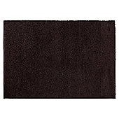 Tesco Alpine Shaggy Rug Chocolate 80X150Cm