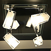 Brilliant Frost Four Light Ceiling Spotlight - Chrome