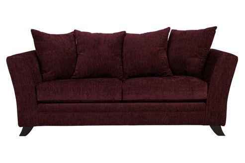 Buy Ella Three Seater Sofa Aubergine From Our Fabric