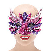Sequin Eye Mask Pink Mix