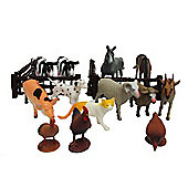 Farm Animal Figures Tub - 17 Pieces