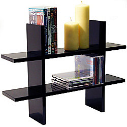 Geo - Wall Mounted Storage/ Display Shelf - Black