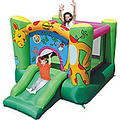 Giraffe 9ft Blow Up Bouncy Castle with Slide