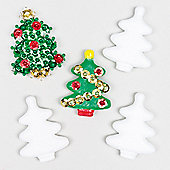 Christmas Crafts Polystyrene Trees (10 Pcs)