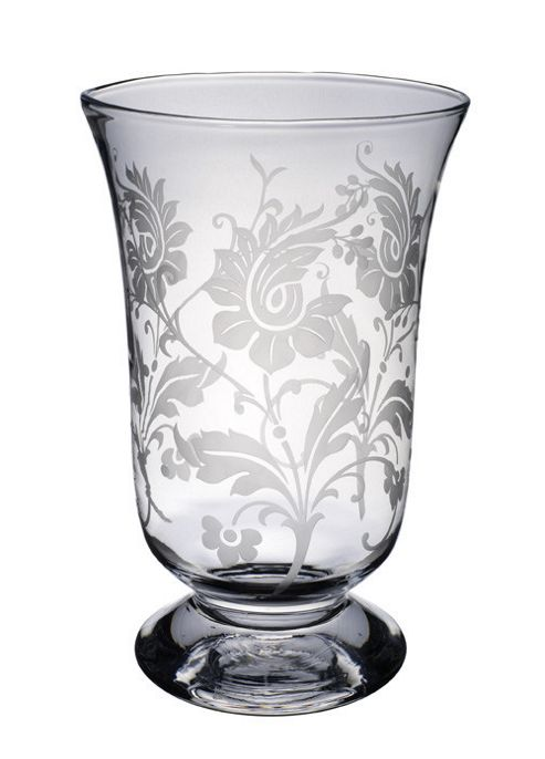 Villeroy & Boch Helium with Flower Ornament Hurricane Lamp - 48 cm
