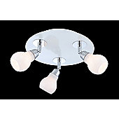 Wofi Dina 3 Light Ceiling Spot Light in White