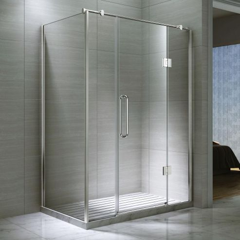 Buy Desire Ten Double Inline Hinged Shower Door With Side