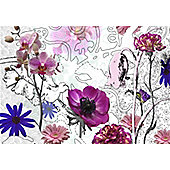 Komar Purple Wall Mural - 368 x 254 cm - With stickers