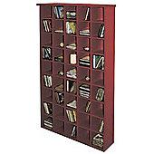 CD Media Storage Shelves - Mahogany