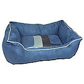 Cool Pets Retro Pet Sofa Bed - Blue - Large (32 cm H x 24 cm W x 8 cm D)