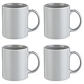 Tesco Grey plain Stoneware Mugs 4 pack
