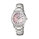 Casio Sheen Ladies Mother of Pearl Stone Set Watch - SHN-4019DP-4AEF
