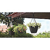 Algarve Hanging Basket 31cm Anthracite - set of 3