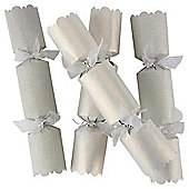Tesco Luxury Silver & White Christmas Crackers, 6 Pack