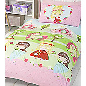 Pretty Princess and Unicorn Single Bedding