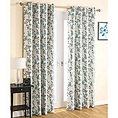 Enhanced Living Serenity Eyelet Teal Curtains 117X137cm
