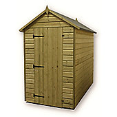 6ft x 5ft Premier Windowless Pressure Treated T&G Apex Shed + Higher Eaves & Ridge Height + Single Door