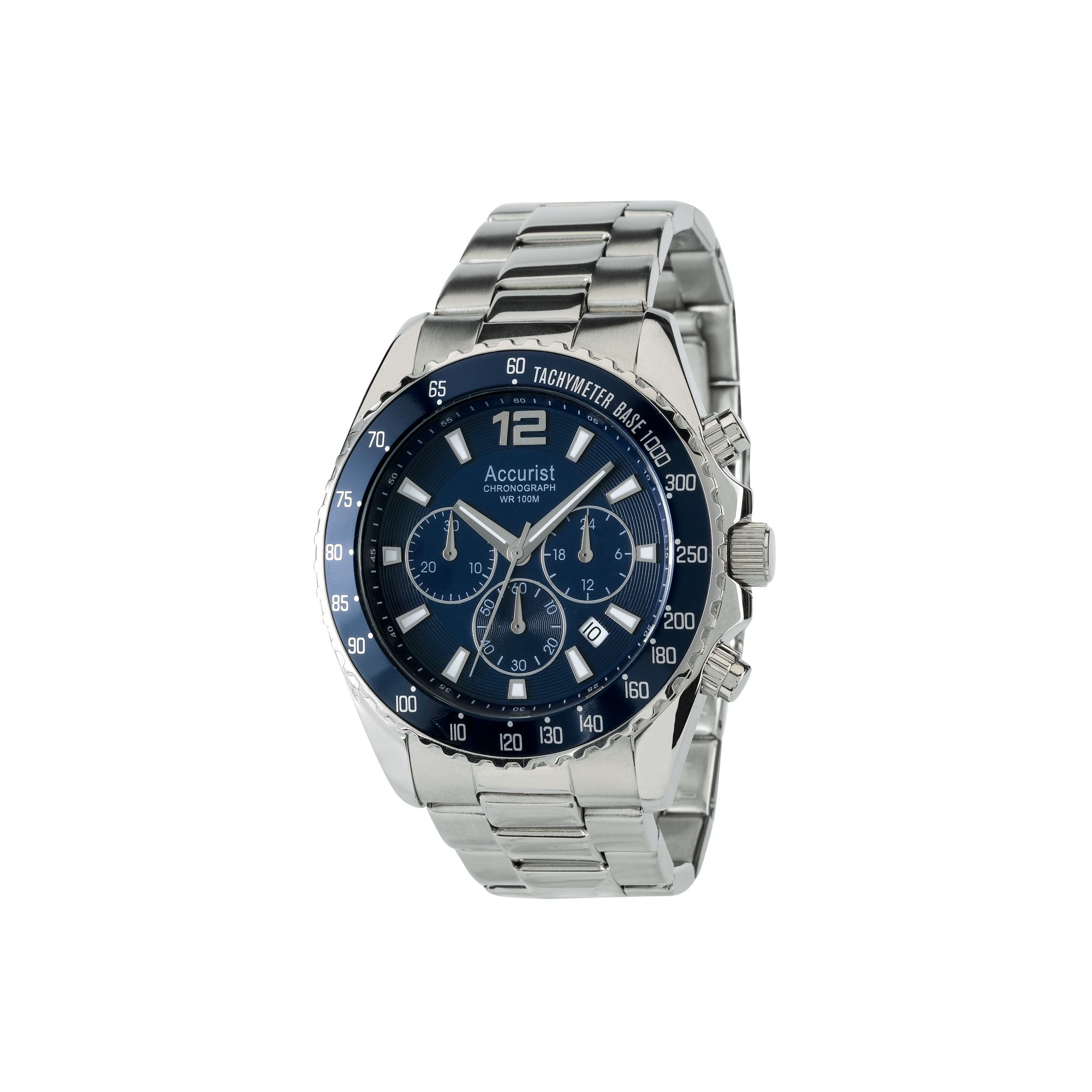myshop accurist gents chronograph bracelet watch mb936nn