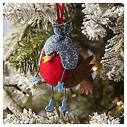 Robin Plush Christmas Tree Decoration