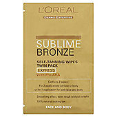 L'Oreal Sublime Bronze Self-Tan Wipes 2 X 5.6ml