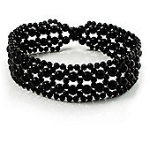 Black Beaded Flex Choker Adult