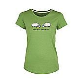 Eyes For Ewe Womens Tee Womens Ladies Short-Sleeved Printed Tee Shirt T-Shirt - Green