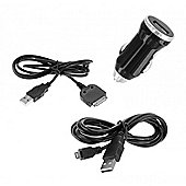 2 Amp In Car Charger for Micro USB and Apple 30pin
