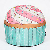 Blue Cupcake Bean Bag