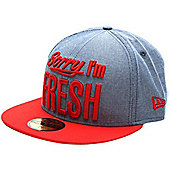 New Era Cap Co Sorry Im Fresh Blue Chambray/Red Fitted Cap Size: 7 1/4 inch