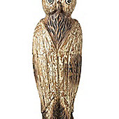 Parlane Large Distressed Wooden Brown Owl Ornament - 62 x 20 x 14cm