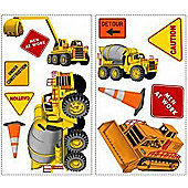 Digger and Truck Stickers - Under Construction